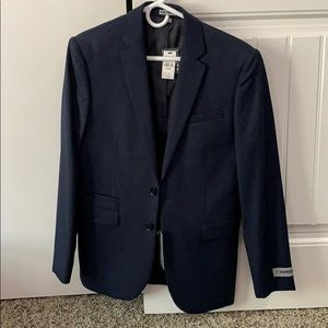 Express suit blazer jacket dark blue